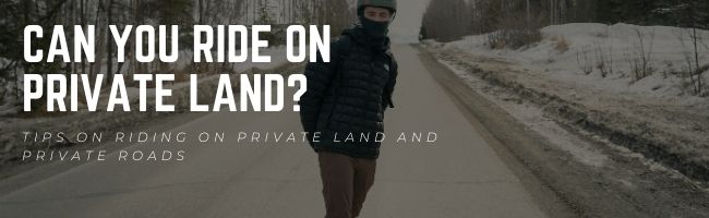 can you skate on private roads
